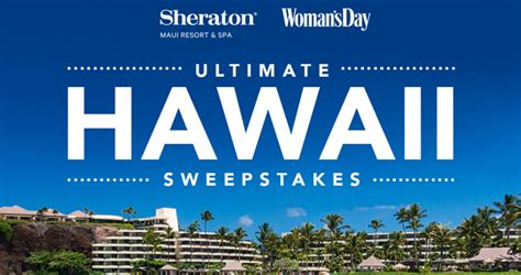 Womansday Sweepstakes - woman s day ultimate hawaii getaway sweepstakes 2018 hawaii womansday com