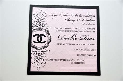 Coco Chanel Party Invitation Coco Chanel Themed Bridal Shower Invitation Designed And Printed Chanel Invitation Template