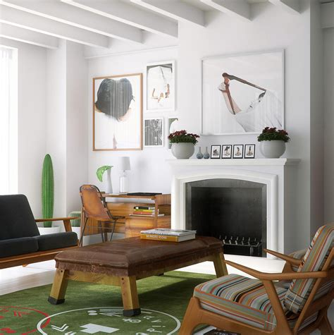 mid century modern living room ideas two beautiful lofts visualized