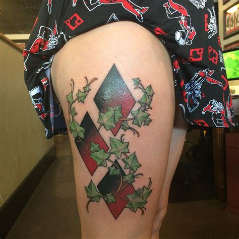 poison ivy tattoo harley quinn poison roger at bombercrew