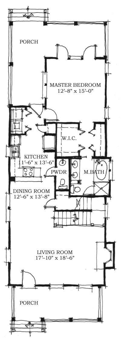 Architects House Plans Allison Ramsey Architects Floorplan For Euhaw Creek