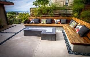 Patio Furniture San Diego Built In Bench Seating Modern Patio San Diego By