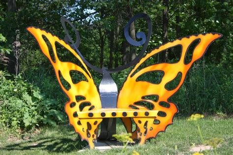 metal butterfly bench garden thyme with the creative gardener a place to rest