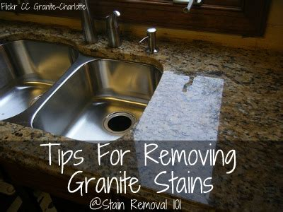 How To Get Stains Out Of Granite Countertops by Tips For Removing Granite Stains From Countertops More