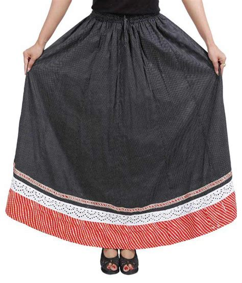 buy drax black cotton maxi skirt at best prices in