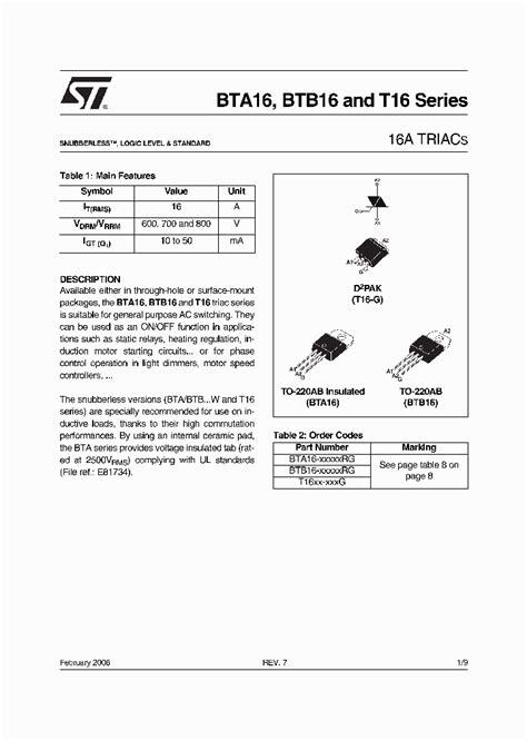 a1023 transistor datasheet pdf bta16 xxxxxrg 732586 pdf datasheet ic on line
