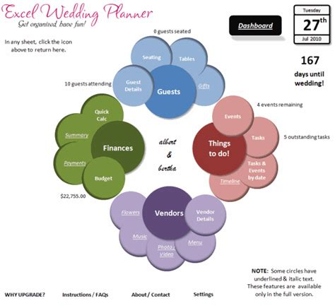 Wedding Organizer Excel by Introducing Excel Wedding Planner Excel Spreadsheet
