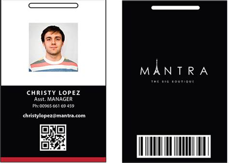 employee identification card template free employee id card template free excel