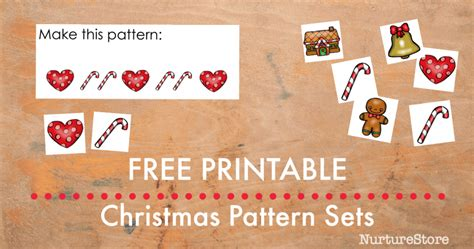 christmas pattern game free printable christmas theme pattern games nurturestore