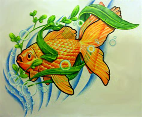 tattoo moobile goldfish tattoos