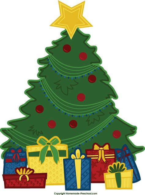 christmas tree with presents clipart clipart suggest