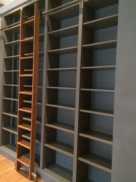 bookcase with sliding ladder bespoke large bookcase with solid oak sliding ladder