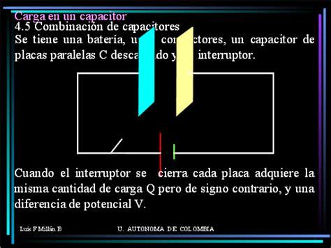capacitancia y capacitor es lo mismo electricidad y magnetismo capacitores monografias