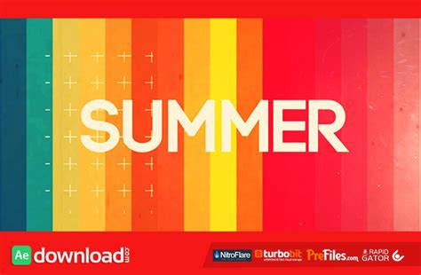 templates after effects free cs5 summer intro opener 11508664 videohive project free