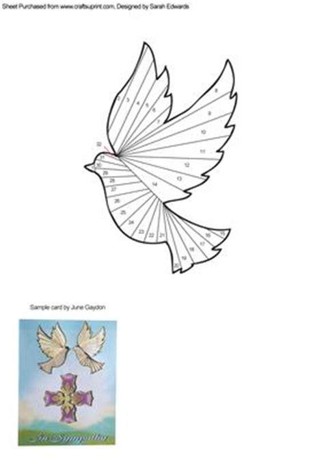 Folding Paper Animals Templates - dove iris folding pattern cup247748 172 craftsuprint
