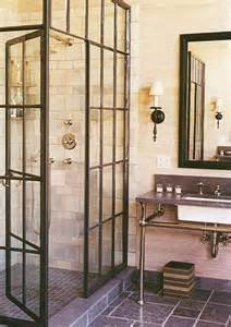 steel shower doors 15 industrial vintage bathrooms house design and decor