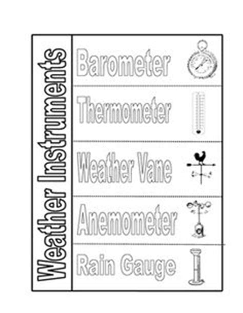 Weather Tools Worksheet by Weather Instrument Matching Cards 4th Grade Science