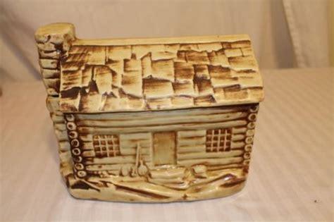 Mccoy Log Cabin Cookie Jar by Mccoy Log Cabin Cookie Jar Current Price 25