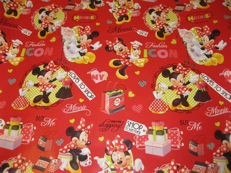 minnie mouse gift wrap minnie mouse shopping wrapping paper gift wrap birthday