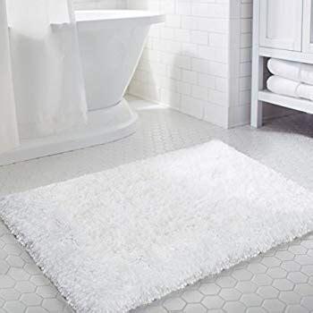 White Bathroom Mats by K Mat 20x32 Inch White Bath Mat Soft Shaggy