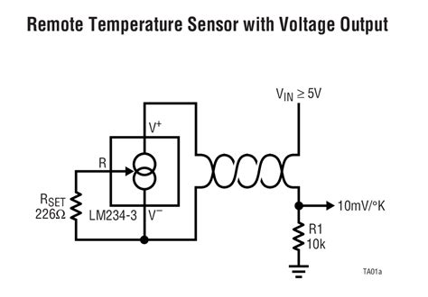 constant current diode datasheet lm234 constant current source and temperature sensor linear technology