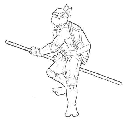 Raphael Ninja Turtle Coloring Page Mutant Turtles Donatello Coloring Pages