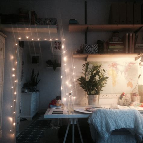 bedroom with fairy lights tumblr
