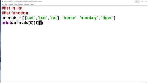 tutorial python functions python tutorial in hindi 29 list in list list function