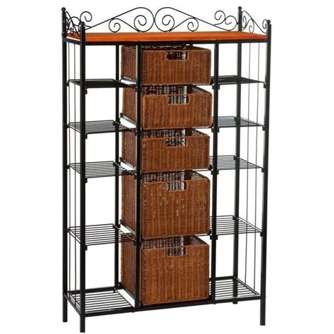 bakers rack with drawers walmart southern enterprises rancho 5 drawer baker s rack ka9161