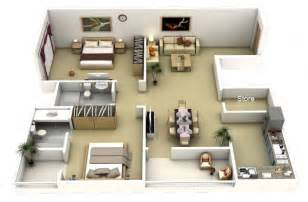 wonderful Master Bedroom Suite Layout Ideas #5: Large-2-Bedroom-Apartment-Plan-600x393.jpg
