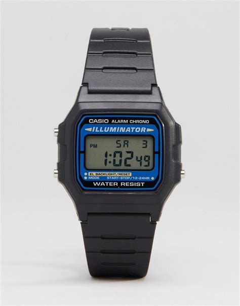 casio casio digital in black f105w 1auz at asos