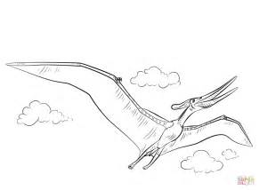 Pteranodon Coloring Pages pteranodon flying coloring page free printable coloring