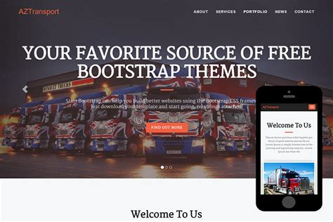 bootstrap themes transport aztransport free bootstrap theme 365bootstrap