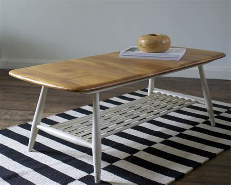 ercol coffee table we vintage ercol coffee table from britain with