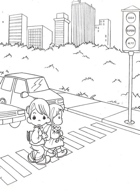 Traffic Light Coloring Page Coloring Home Free Traffic Lights Coloring Pages