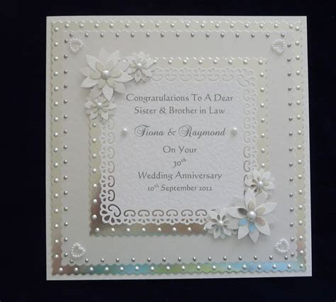 30th Wedding Anniversary Card Verses by Silver Wedding Anniversary Cards For Parents More Papier