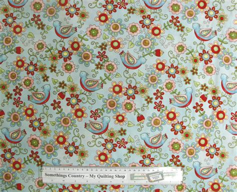 Patchwork And Quilting Fabric - patchwork quilting sewing fabric birdie floral