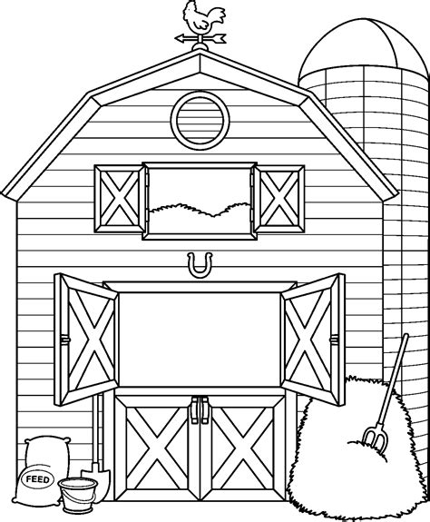 Barn Coloring Pages 2737 Barn Coloring Pages Free