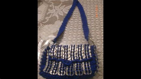 Bolsas Tejidas Con Fichas | bolsas tejidas con fichas de aluminio youtube