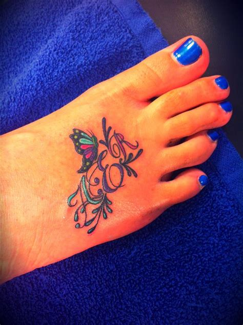 20 Best Tattoos Images On Pinterest Initial Tattoos Butterfly Tattoos With Initials