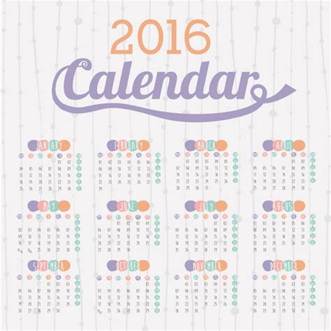 design calendar simple simple wall calendar 2016 design vectors set 10 vector