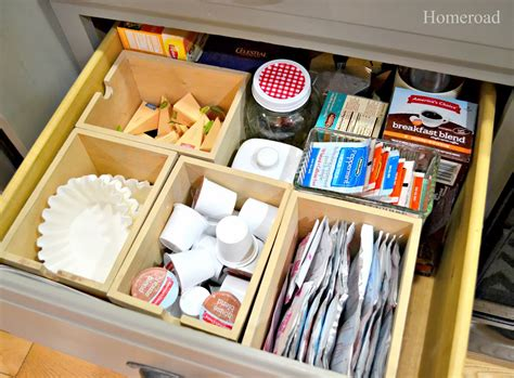 tea organization homeroad kitchen coffee station organization