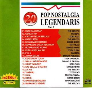 Cd 20 Pop Nostalgia Legendaris Vol 6 20 pop nostalgia vol 2 pas buwat ngobatin rindu