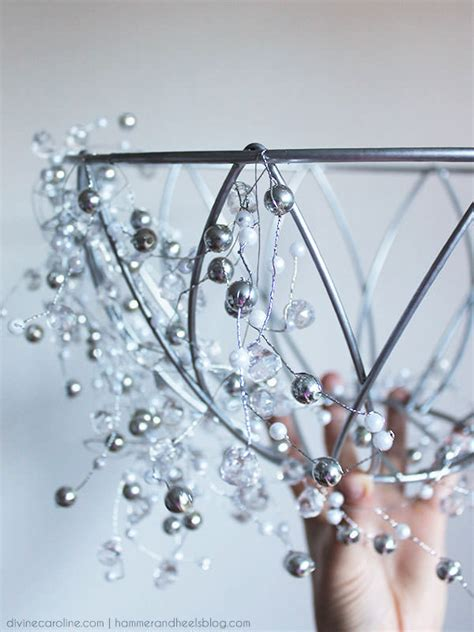 Glitz And Glam Decor Projects The Budget Decorator How To Make A Chandelier With