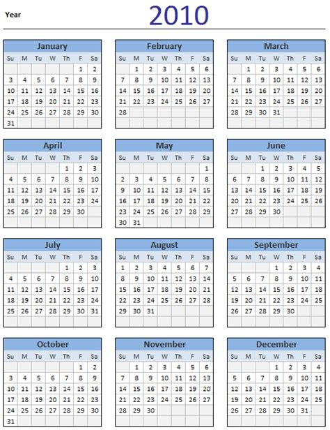 printable calendar 2014 ireland 5 best images of 2010 year calendar printable free 2010