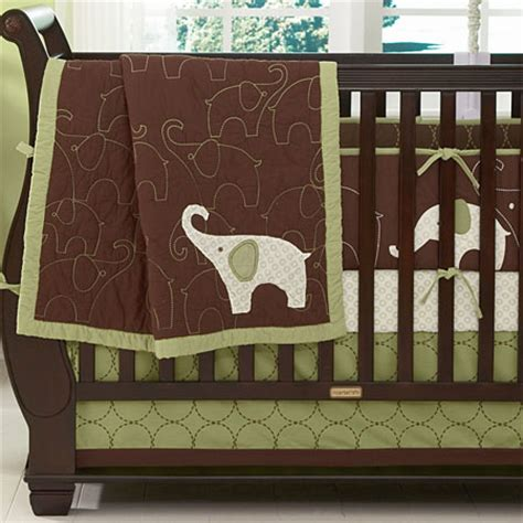 Baby Elephant Crib Bedding by Green Elephant Baby Crib Bedding Offers Complete Comfort