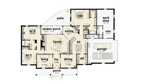 southern style house plan 3 beds 2 5 baths 2183 sq ft