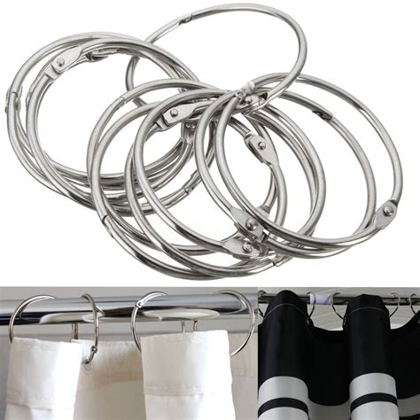 curtain round rings 12pcs round circular stainless steel shower curtain hooks