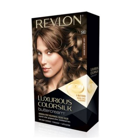 Revlon Colorsilk 54 Lgold Brown revlon luxurious colorsilk buttercream hair color 54g