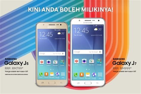 Harga Samsung J5 New Gold samsung galaxy j5 rm799 galaxy j7 rm999 now in malaysia